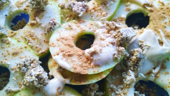 OASIS URBANO BA, Snack de Manzana Verde y Pasta de Maní 04