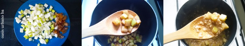 Oasis Urbano BA, Porridge tarta de manzana 03